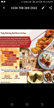 Tasty Catering and Decor Services