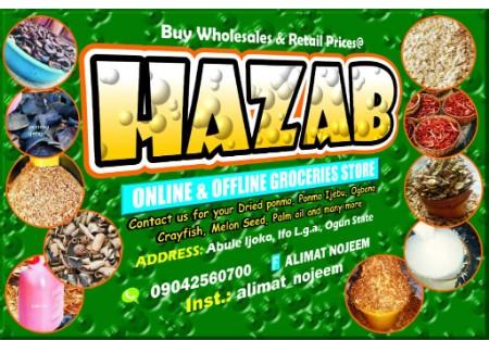 Hazab online groceries store