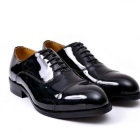 Mens Classy Executive Patent Italian Leather Oxford Shoe