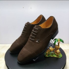 Brown Italian Suede Louis Vulton Lace Up Shoe