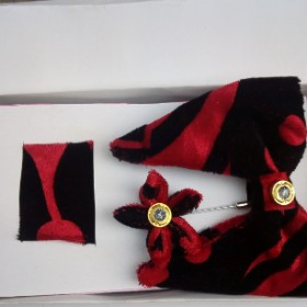 Red Black Butterfly Bow Tie