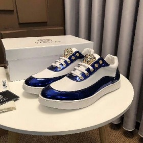 Premium Versace Ultra Designer Sneakers White/blue