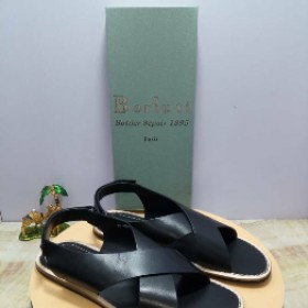Black Berluti Designer Sandals