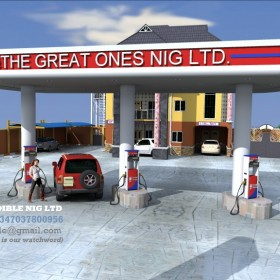Complete Working ARCHITECTURAL DRAWING OF A FILLING STATION