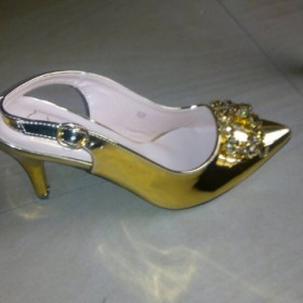 Ezrecheal Gold Color Shoes