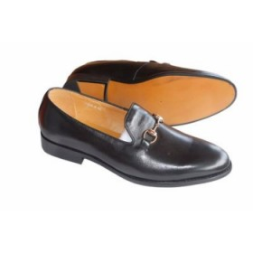 Mens Classy Executive Italian Leather Loafer-black