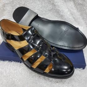 Cerruti Italian Leather Classy Sandals-black