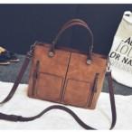 Double Pocket Retro Handbag