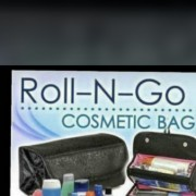 Cosmetic roll and go bag