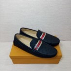 Mens Classy Executive Louis Vutton Loafer Black