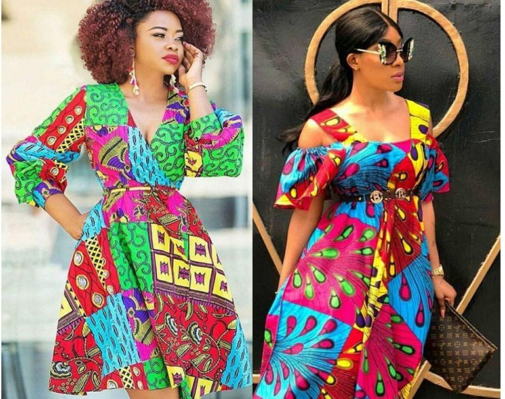 ladies ankara gown pattern