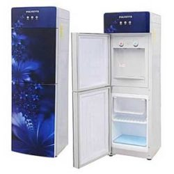 Polystar Blue Color Water Dispenser With Hot And Cold And Glass Panel Pv rjx b x