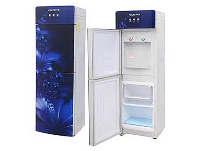 Polystar-Blue-Color-Water-Dispenser-With-Hot-And-Cold-And-Glass-Panel-Pv-r6jx-5b