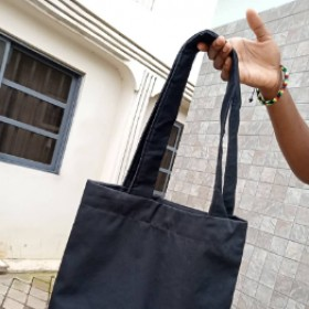 Black Tote Bag (Customizable)