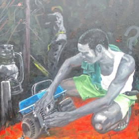 Paint Me Art International   The Repairer (power Outage)