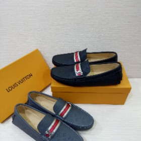 Mens Trendy Louis Vutton Double Force Designer Sneaker Black/grey