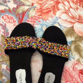 Princess footwears   Beaded Slippers