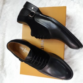 Versace Mens Exotic Hi-class Oxford Shoe Black