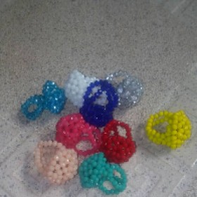 Bead Crystal Rings