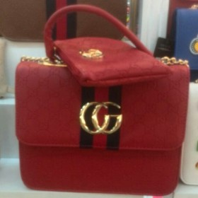Red Gucci Female Hand Bag