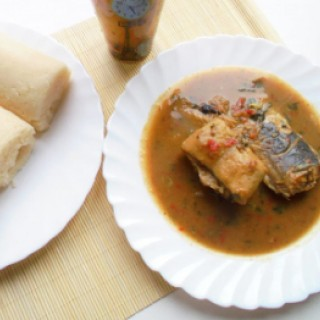 Pounded Yam With Nsala Soup