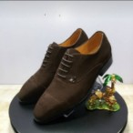 EandCwardrobe  Brown Italian Suede Louis Vulton Lace Up Shoe