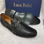 OBED'S WARDBROBE  Luca Dolci Italian Leather Loafer-black