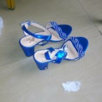 Rechy BAGS Outlet  Fine Blue Female Heels