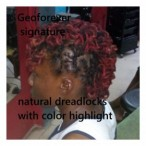 GeoA5 beauty salon  Dreadlocks With Color Hightight