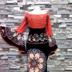 LILYJEAN COUTURE  Ankara Skirt And Blouse