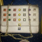 Rechy hand BAGS OUTLET  White Hand Bang With Gold Colored Chain