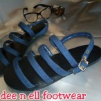 Dee N Ell Jean Stripes Sandals...
