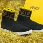 OBED'S WARDBROBE  Fendi Premium High Tops Socks Sneakers Black