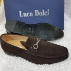 OBED'S WARDBROBE  Luca Dolci Italian Leather Suede Loafer -brown