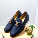 OBED'S WARDBROBE  Blue Louis Viutton Corporate Shoe