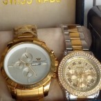 Make Up And Accessories Shop  Swiss Made Wristwatch (Emporio Armani And Rolex