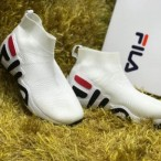 Premium Fila Socks Sneakers White