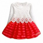 BrandedKidsWear Store  White&Red Gown