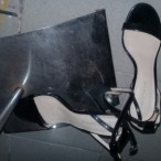 PrincessE  Black Strip Shoe