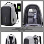 Purple_Posh Stores  Anti Theft Backpack