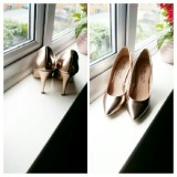 TMT  Gold Colour Heel Shoe.