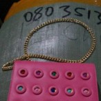 Rechy hand BAGS OUTLET  Pink Hand Bag With Gold Colored Chain