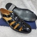 OBED'S WARDBROBE  Cerruti Italian Leather Classy Sandals-black
